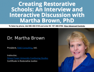 Humanizing Education & Reconnecting People: The Potential of Restorative Justice in Education